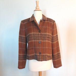 Vintage Harvé Bernard Plaid Pendleton Jacket